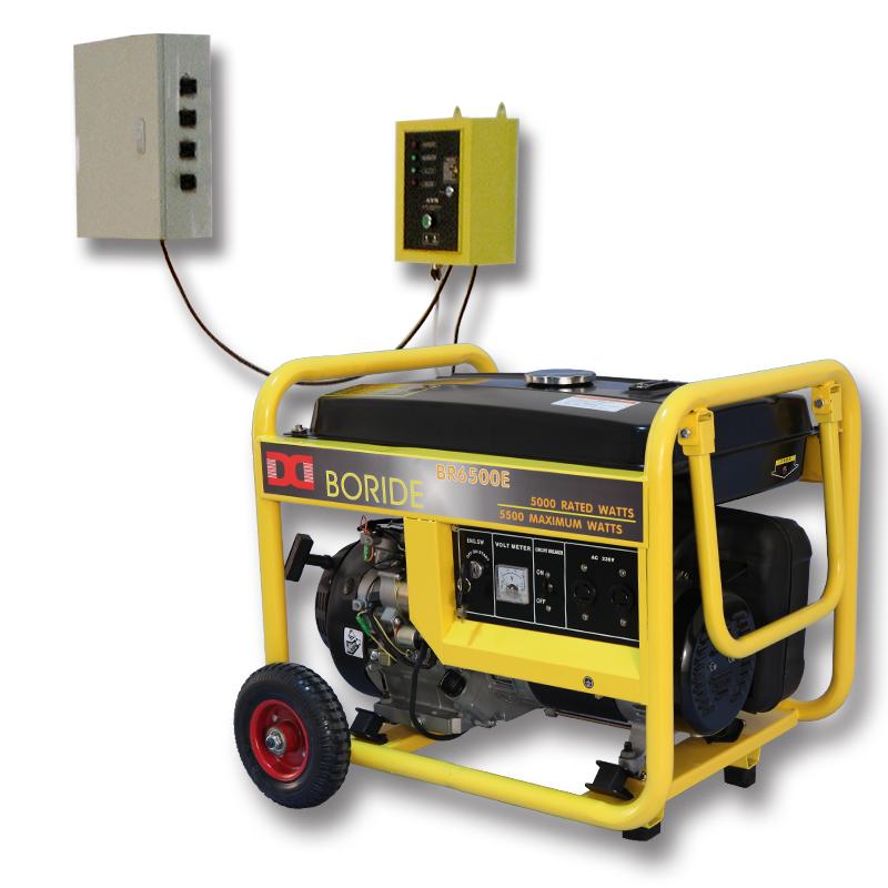 单相5kW无人值守ATS小型汽油发电机组BR6500ATS