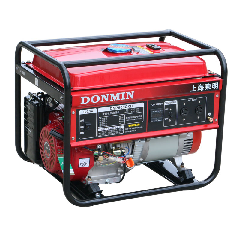 6kW小型220V汽油发电机组【可配备移动轮】DM7500CXD电动