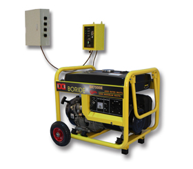 单相6kW无人值守ATS小型汽油发电机组BR7500ATS