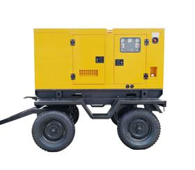 上海50KW移动拖车发电机,户外工程施工柴油发电机50KW静音箱式,可定制