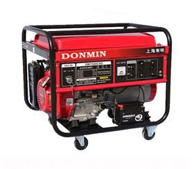 单相6千瓦汽油发电机组电启动6KW发电机DM7500CXD【带移动轮】