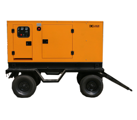 上海东明移动拖车发电机,玉柴柴油静音箱型发电机
