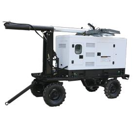 上海东明50kw白色低噪音柴油灯塔发电机组