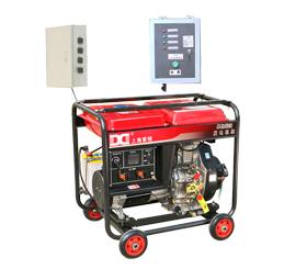 冷链配套单相5kw无人值守ATS柴油发电机 DMD6500LE(ATS)