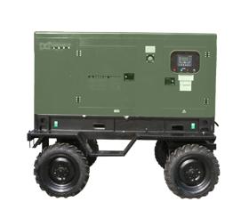 野外训练配套50kw拖车型柴油发电机组   GF3-50Y(T)-BD