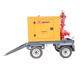 东明柴油移动高压泵车(配雾炮) DMDP6